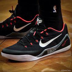 "#SoleWatch // DeMar DeRozan in the Nike Kobe 9 EM ""Laser Crimson"" #nike #raptors"