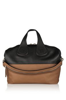 Givenchy - Medium Nightingale bag in black and tan leather 7d5d825013e2b