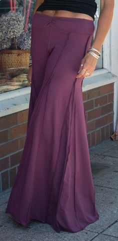 Pants that look like a skirt! Plum Palazzo Pants
