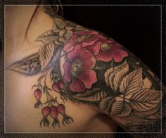 Tattoo by Mike Amanita  Beautiful old fashion roses