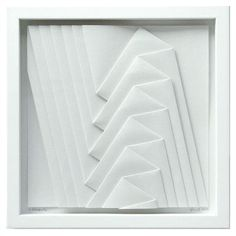 """Peter Weber [Germany] (b 1944) ~ """"6 rectangles"""", 2013. Watercolor paper (30 x 30 cm)."""
