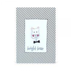 Bright Bear Handmade Brooch and Greeting Card