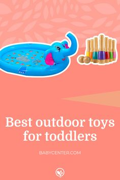 Best outdoor toys for toddlers Outdoor Toys For Toddlers, Best Outdoor Toys, Top Toys, Baby Center, Toddler Toys, Activities, Fun, Kids, Young Children