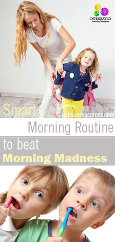 Smart Morning Routine to Beat Morning Madness with Your Child | ilslearningcorner.com #morningroutine #parenting