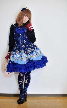 https://flic.kr/p/cZD1Qm   Navy Blue Sweet Lolita   Metamorphose temps de fille JSK