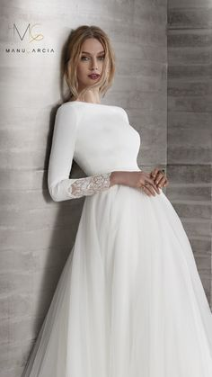 Cute Modest Wedding Dresses To Inspire ★ modest wedding dresses princess simple with long sleeves elegant dom vesta Bridal Skirts, Bridal Gowns, Wedding Gowns, Wedding Dress Trends, Modest Wedding Dresses, Gowns With Sleeves, Bridal Fashion Week, Bridal Style, The Dress