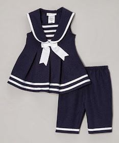 Look at this Gerson & Gerson Navy Sailor Dress & Capri Pants - Infant, Toddler & Girls on today! Girls Summer Outfits, Little Girl Outfits, Toddler Girl Outfits, Little Girl Dresses, Toddler Dress, Baby Dress, Kids Outfits, Infant Toddler, Toddler Girls