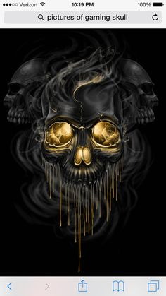 Awesome cool skull of work of art.