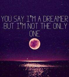 John Lennon imagine lyric quote via www.Facebook.com/SkillShare