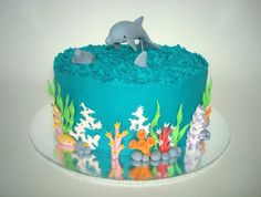 Dolphin Cake. This is cute