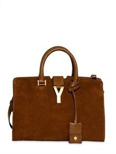 Saint Laurent Small Cabas Y Suede Leather Bag - ShopStyle. 55eb25f6d244a
