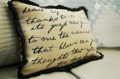 Wordsworth Pillow Tutorial | Do It Yourself Home Designs & Furniture Refinishing