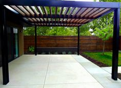 Aluminum contemporary pergola