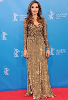 Angelina Jolie in Jenny Packham Gown