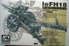 German Howitzer leFH18. AFV Club, 1/35, rebox 201x (ex AFV Club 2003 No.AF35050, changed box only), No.AF35050. Price: Not Sold.