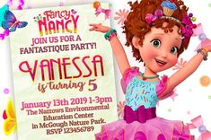 Fancy Nancy Birthday Party Invitations - partyandcraftsupplies.com birthday invitation, birthday party supplies, disney fancy nancy, fancy nancy, fancy nancy birthday party, fancy nancy invitation, fancy nancy party, invitation, topper cake, video invitation 2nd Birthday Invitations, Fancy Nancy, A Day To Remember, For Your Party, Party Printables, Party Supplies, Birthday Parties, Handmade Gifts, 4 Hours