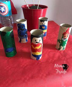superhéroes en rollos de papel Ideas Para, Tableware, Paper, 4th Anniversary, Afternoon Snacks, Dinnerware, Tablewares, Dishes, Place Settings