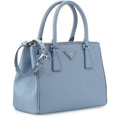 prada blue leather bag