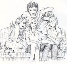 The Melrose Family by Bowvs.deviantart.com on @deviantART Left to Right: Angeline, Adrian, Sydney, Jill & Eddie