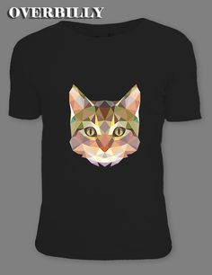 1a0d66a2f1ba Aliexpress.com : Buy Low poly cat Custom geometric pet portrait| 2017  Popular Printed T shirt Tees Popular Male Short Sleeve Tops 3 colors from  Reliable ...