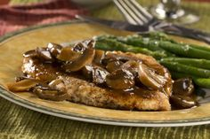 """6 minutes to skinny - Chicken Marsala - This low-carb chicken dinner is a great way to make a restaurant-fancy dish right at home! - Watch this Unusual Presentation for the Amazing to Skinny"""" Secret of a California Working Mom Diabetic Chicken Recipes, Chicken Tender Recipes, Crockpot Recipes, Cooking Recipes, Diabetic Foods, Duck Recipes, Chicken Meals, Recipe Chicken, Healthy Cooking"""