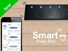 Smart Power Strip- Control your appliances from anywhere by Roger Yiu — Kickstarter.  Turn on/off any plugged devices, set timer, read power consumption- while you are at home or away. Monitor and build your Smart Home.