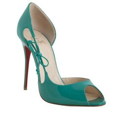 Christian Louboutin Delico 100mm Peep Toe Pumps Jade