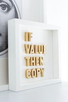 If value then copy | framed art