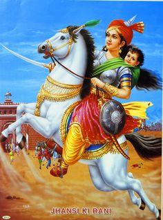 Lakshmibai - The Rani of Jhansi (Reprint on Paper - Unframed))