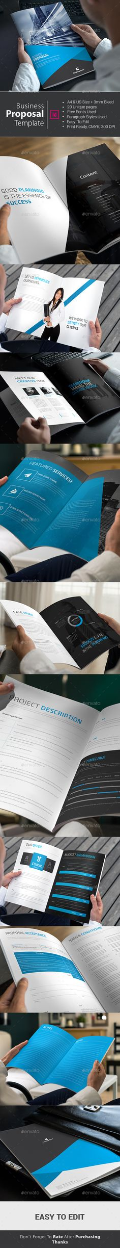 Business Proposal Template #design Download: http://graphicriver.net/item/business-proposal-template/12822050?ref=ksioks