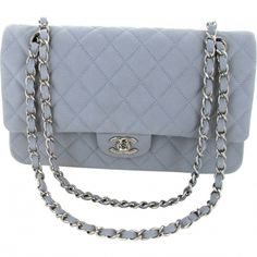 18d924e3b501 LINEN BLUE   PEARL GREY CAVIAR LEATHER TIMELESS by  CHANEL  Vestiaire  Collective (Global