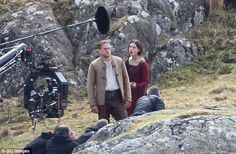 Intense: It appeared as if the two stars were filming a heated scene...
