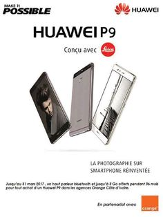 Hello la famille , jusqu'au 31 MARS 2017 , un haut parleur bluetooth et jusqu'à 3Go offerts pendant 06 mois pour tout achat d'un #HuaweiP9 UNIQUEMENT dans les agences Orange Côte d'ivoire . Prix : 259 000 FCFA  #Makeitpossible# #fashion #style #stylish #love #me #cute #photooftheday #nails #hair #beauty #beautiful #design #model #dress #shoes #heels #styles #outfit #purse #jewelry #shopping #glam #cheerfriends #bestfriends #cheer #friends #indianapolis #cheerleader #allstarcheer #cheercomp…