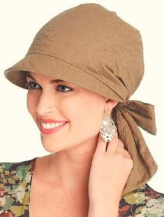 Krista Visor Hat Wrap, Brimmed Head Wrap for WomenShop beautiful head wraps for women in an array of styles, colors and patterns. Our head wraps & chemo scarves are ideal for cancer patients or any fashionable woman who wants to look her best. Head Wrap Headband, Head Wrap Scarf, Head Scarfs, Head Wraps For Women, Hats For Cancer Patients, Summer Hats For Women, Visor Hats, Mode Style, Womens Scarves
