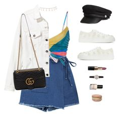 A fashion look from July 2017 featuring white denim jacket, cut-off shorts and Mara Hoffman. Browse and shop related looks. Kpop Outfits, Edgy Outfits, Summer Outfits, Cute Outfits, Fashion Outfits, Womens Fashion, Petite Fashion, Aesthetic Fashion, Look Fashion