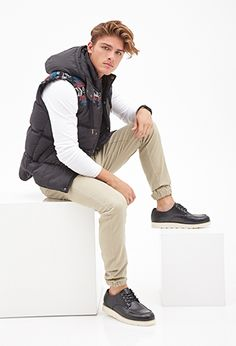 Shop the latest trends in men's jackets without spending your whole paycheck. Find men's jackets on sale like bomber jackets, windbreakers, puffy vests and more from Forever Swag Outfits Men, Warm Outfits, Men's Outfits, 21 Men, Hair Flip, Body Warmer, Puffer Vest, Style Me, Latest Trends