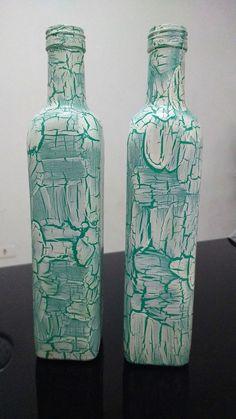 garrafas de azeite craquelada