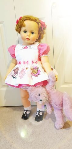Chatty Cathy, Ideal Toys, Old Dolls, Suzy, Vintage Dolls, Beautiful Dolls, Doll Clothes, Harajuku, Bear