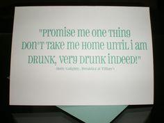 Bachelorette Invitations (Breakfast at Tiffany's Quote)