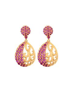 Pretty 925 Sterling Silver,Pink Cz Earrings | Rs. 1,910 | http://voylla.com