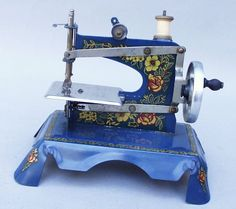 Blue...a delightful French toy machine 'Ma Cousette'
