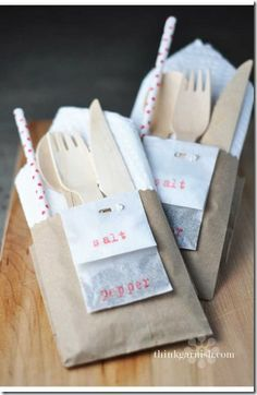 Easy and Organized BBQ Silverware