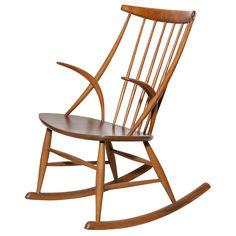 Danish Modern Rocking Chair by Illum Wikkelso