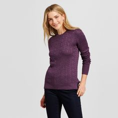 Women's Pullover Sweaters - Merona Wood Violet Xxl