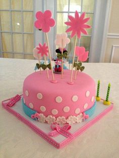 Pink & Blue Minnie Mouse - CakesDecor