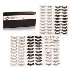 Winstonia's 50 Pairs False Eyelashes Fake Lashes  ($12.95)