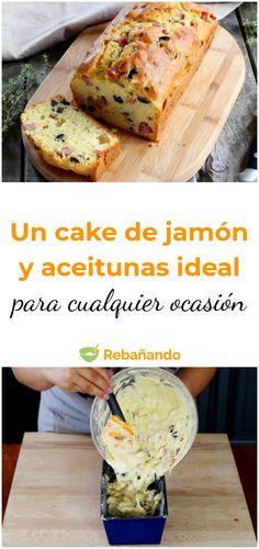 Un cake de jamón y aceitunas perfecto para cualquier ocasión #cakesalado #recetasdeliciosas #aceitunas Kitchen Recipes, Snack Recipes, Snacks, Sweet Corner, I Chef, Gula, Un Cake, Salty Cake, Pan Bread