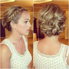 Bridal updo.  Love this!