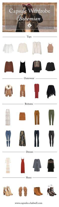 How to Create a Boho Capsule Wardrobe