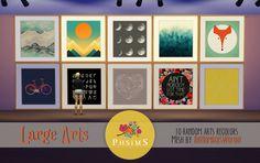LARGE ARTS ♥10 random wall arts.Adorable mesh byTheNumbersWoman ♥ Thank you!Enjoy!DOWNLOAD